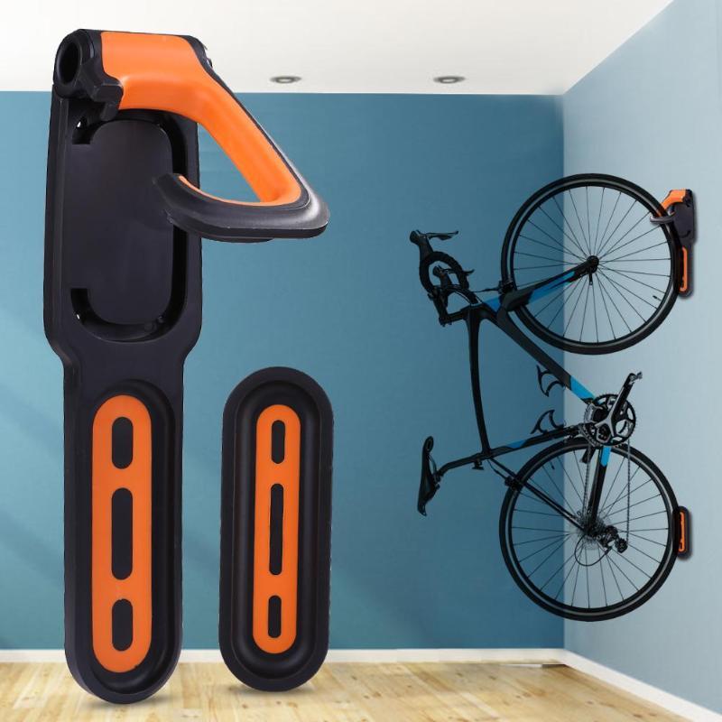 2pcs Heavy Duty Bike Storage Rack Hooks Wall Mounted Bicycle Hanging Holder UK