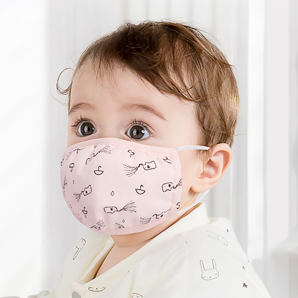 Pm2.5 Children Warm Cotton Anti Dust Mouth Mask Washable Activated Carbon Filter Windproof Mouth Bacteria Kid Face Masks Random