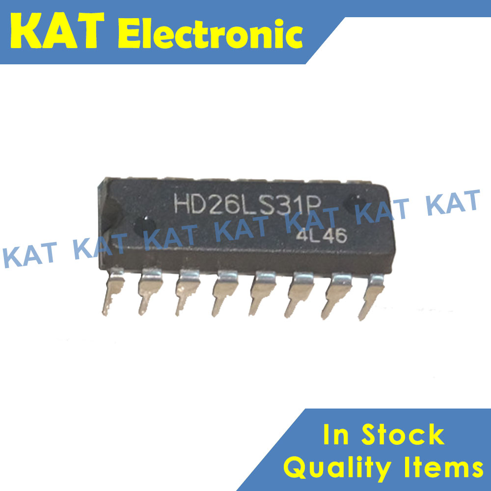 5PCS/Lot HD26LS31 HD26LS31P DIP-16 New&Original Quadruple Differential Line Drivers With 3 State Outputs