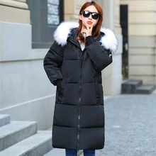Jacket New Hot Sale Long For Winter Women 2019 Large Collar Cotton-padded Warm Thicken Plus Size 7xl Coat Parka Outwear Female  - DISCOUNT ITEM  55% OFF All Category