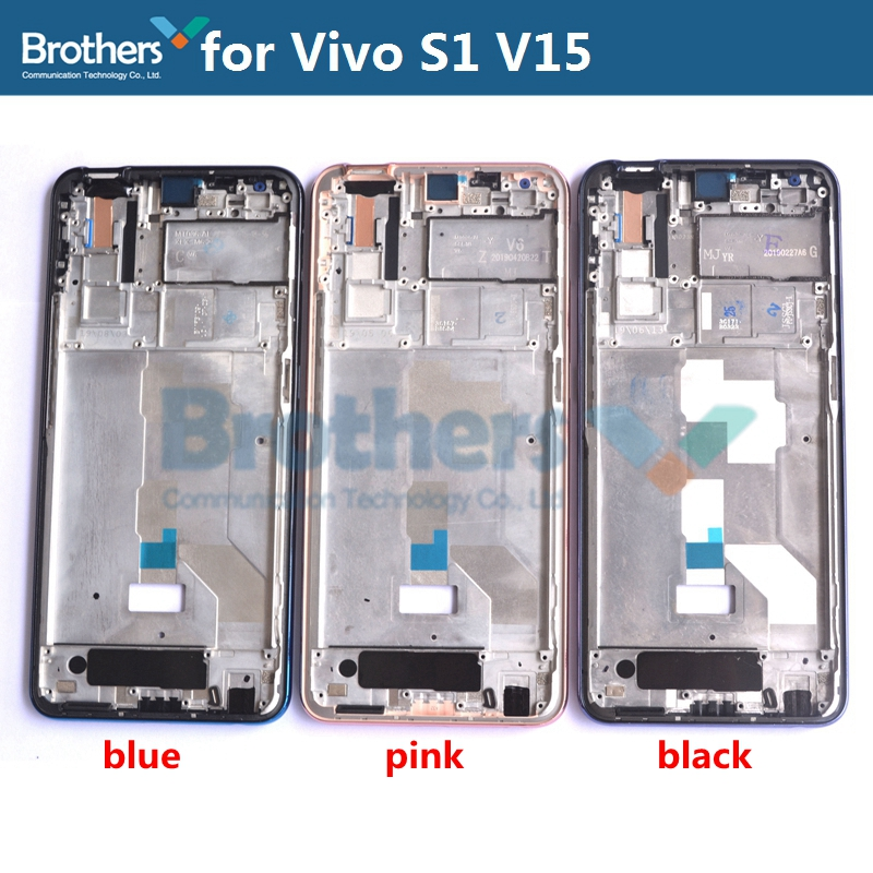 For Vivo S1 V15 Front Frame LCD Frame Brand New Original Front Housing For Vivo S1 V15 LCD Bezel Phone Replacement Top AAA Pink
