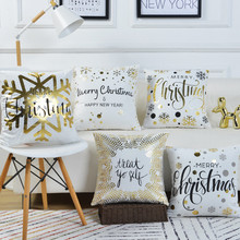 45x45cm Pillowcase Christmas Decorations for Home Happy New Year 2020 Merry Navidad 2019.