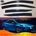 Для Toyota Prius PHV 2016 2017 2018 2019 автомобильные аксессуары пластиковый внешний козырек Vent Shades Window
