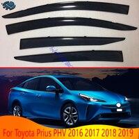 Para toyota prius phv 2016 2017 2018 2019 acessórios do carro de plástico exterior viseira ventilação shades janela