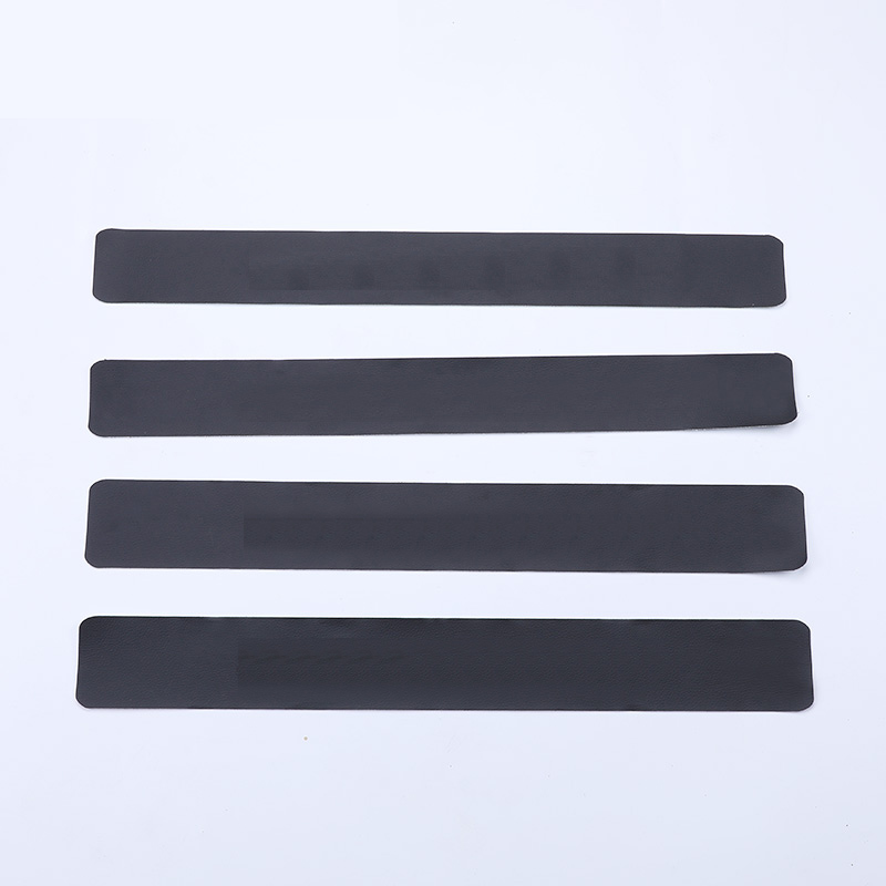 Lsrtw2017 Carbon Fiber Leather Car Door Sill Sticker for Skoda Superb 2016 2017 2018 2019 2020 in Interior Mouldings from Automobiles Motorcycles