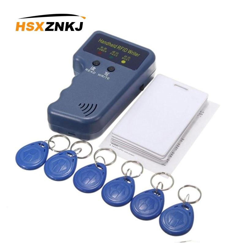 Handheld 125KHz RFID Duplicator Copier Writer Programmer Reader + Keys + Cards Suits RFID Writer/Copier/Readers/DuplicatorControl Card Readers   -