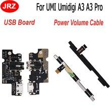 ل UMI Umidigi A3 A3 برو مايكرو موصل هيكلي مجلس USB شحن ميناء و الجانب زر حجم الطاقة فليكس كابل FPC استبدال أجزاء