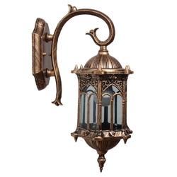 Retro zewnętrzna ściana światło korzystna lampa kinkietowa w stylu europejskiej willi wodoodporna zewnętrzna oświetlenie ogrodowe oświetlenie promocja|Lampy ścienne|   -