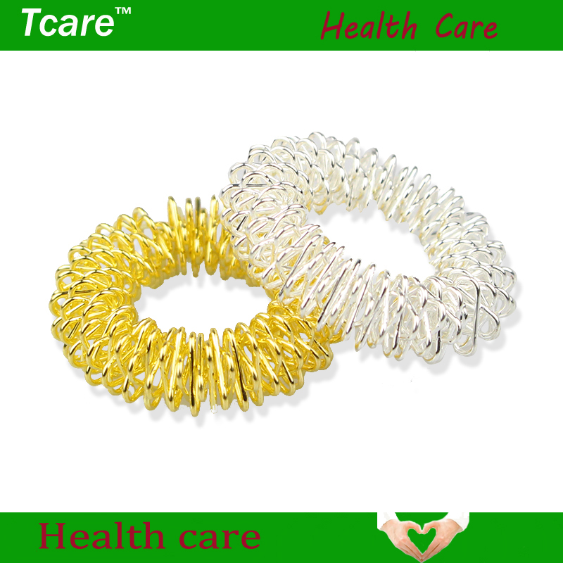 Tcare 50Pcs/Lot Hot Sale Finger Massage Ring Acupuncture Ring Health Care Body Massage Beauty & Health Finger Massager