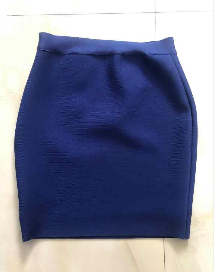 도매 무료 배송 캔디 컬러 섹시 미니 붕대 스커트 2019 디자이너 연필 스커트 faldas 43cm