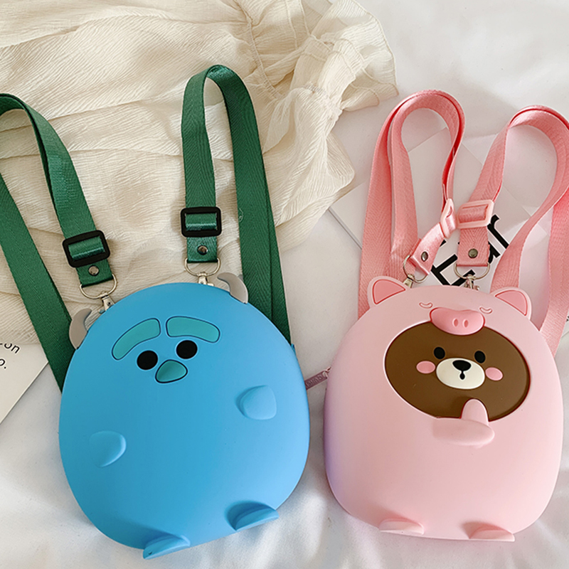 Bags For Women 2020 New Cute Fashion Zipper Kids Backpacks Soft Silicone High Quality School Bag Shoulder Bag For Girls Backpack