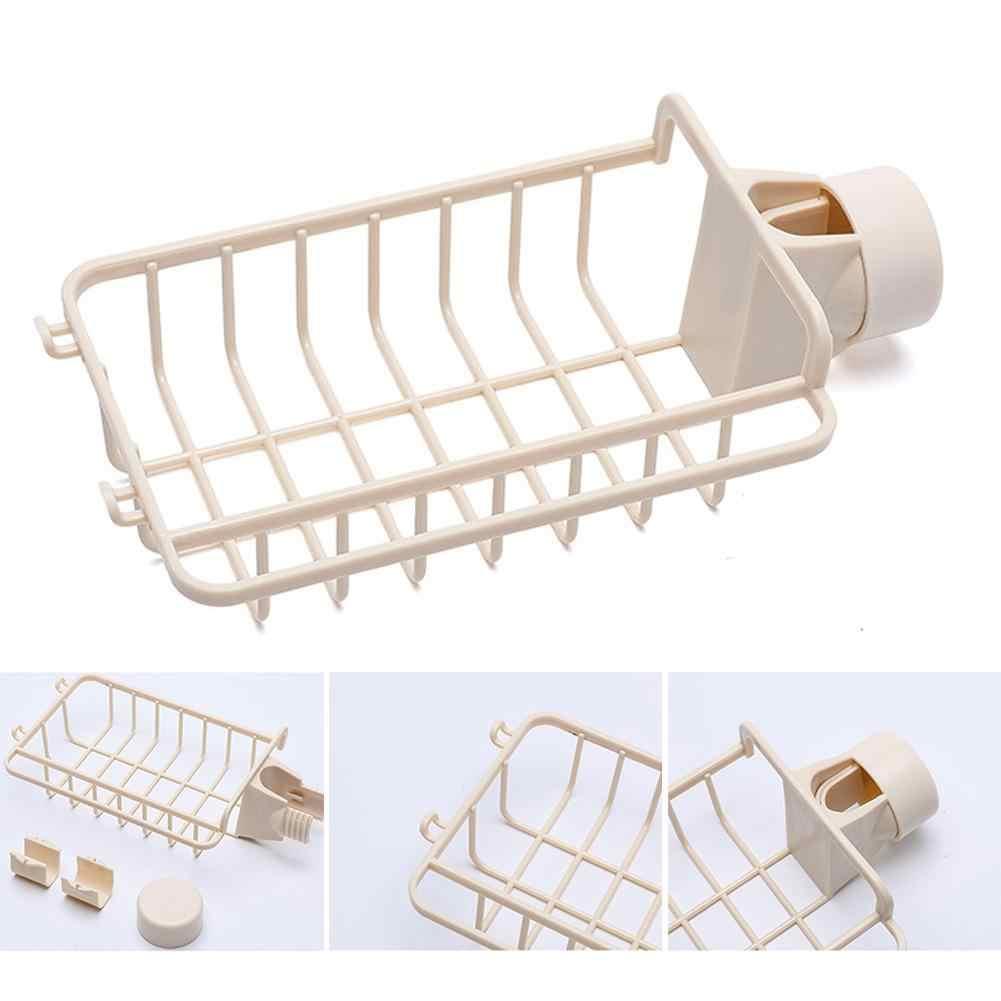 Kreative Japanischen Wasserhahn Rack Mit Haken Küche Schwamm Lappen Lagerung Rack Haushalt Bad Waschbecken Abfluss Rack