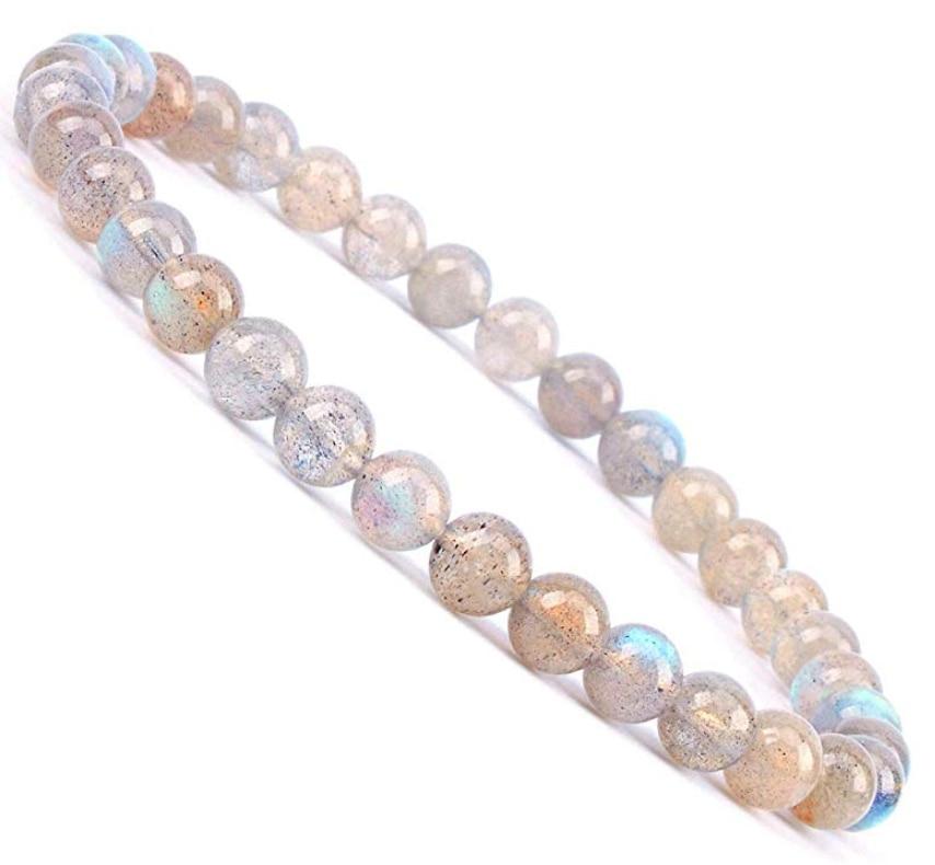 "Hot Natural Gemstone Round Beads Stretch Bracelet Jewelry 7.5/"" 4mm 6mm 8mm 10mm"