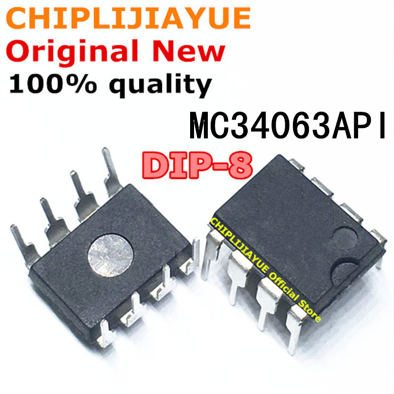 20PCS MC34063API MC34063A DIP-8 MC34063 DIP 34063 DIP8 New And Original IC Chipset