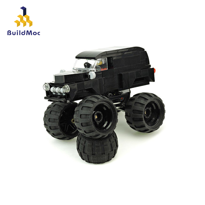 BuildMoc Speed Champions Technic City Vehicles Super Racers Sports Racing Car Model Building Blocks Toys For Kids
