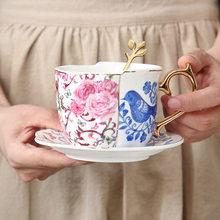 Engels Afternoon Tea Set Hummingbird Koffie Tool Golden Dessertbord Chinese Thee Mok Klassieke Melk Cup Hometea Party Restaurant(China)