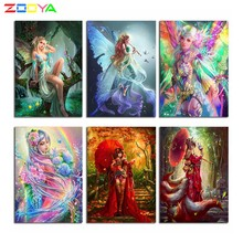 ZOOYA Art 5D Diy Diamond mosaic full layout Butterfly Elf Diamond Paintings Cross Stitch 3D Rhinestones Embroidery Decor CH219 dazzle butterfly prints diamond paintings