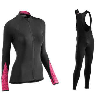 Conjunto de Jersey de Ciclismo para Mujer Ropa de manga larga para...