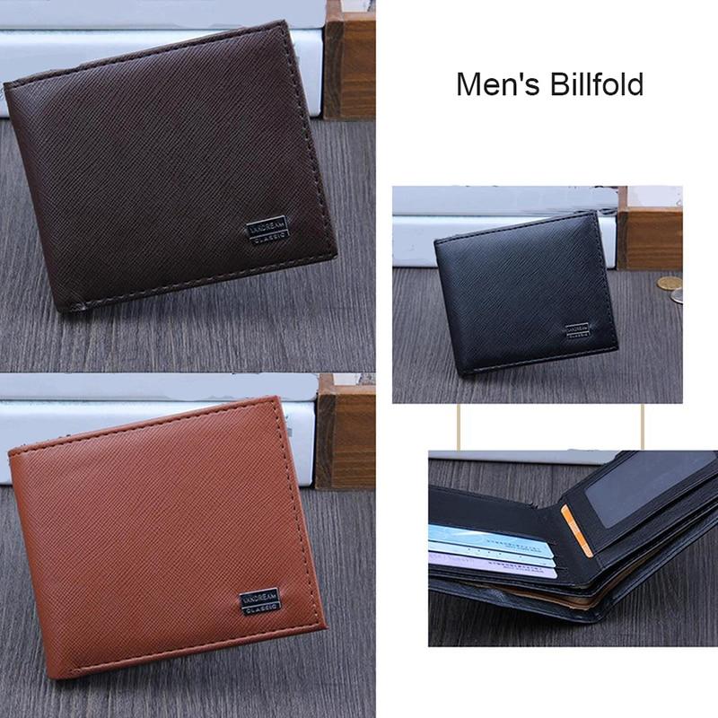 2019 New Practical Simple Vintage Men PU Leather Brand Luxury Wallet Short Slim Male Purses Money Clip Credit Card Useful Wallet