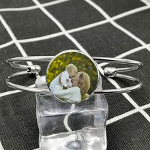 Name-Bracelet Personalized DIY And Photo Couple Grandparents Children's