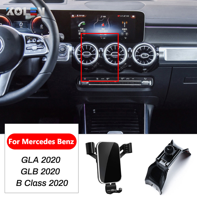 Car Mobile Phone Holder Gravity Stand For Mercedes Benz GLA GLB B Class W247 X247 2020 GPS Air Vent Mount Bracket Accessories