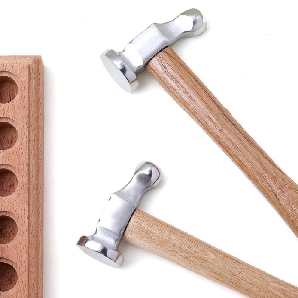 Креативный маленький деревянный молоток из нержавеющей стали, ювелирные изделия, Круглый молоток, Многофункциональный ручной молоток «сде...