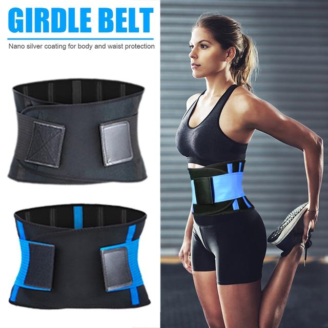 Adjustable Waist Back Support Waist Trainer Trimmer Belt Sweat Utility Band for Sport Gym Fitness Weightlifting Tummy Slim Belts