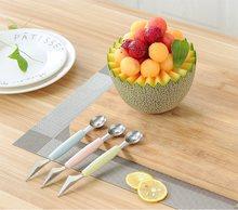 Frutas escultura faca melancia baller sorvete dig bola ferramentas cozinha utensilios cortador de legumes slicer coupe legume
