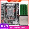 JGINYUE X79 motherboard LGA 2011 set kit with Xeon E5 2689 processor and DDR3 16GB 4*4G REG ECC memory X79M PLUS 1