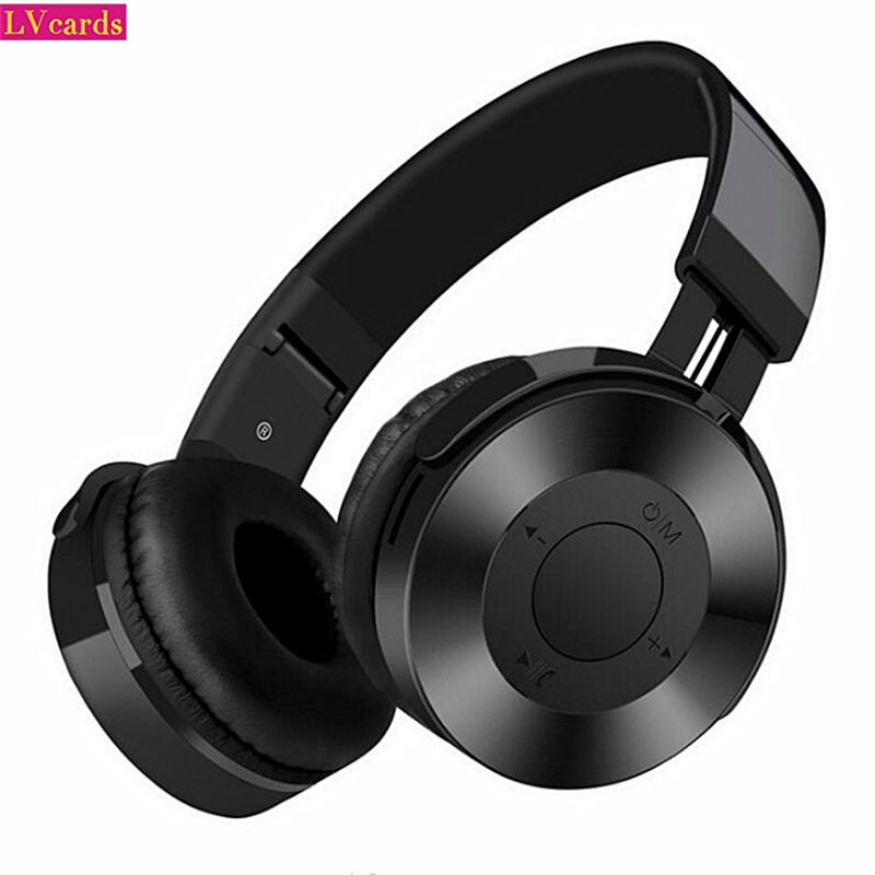 LVcards 02 HIFI Stereo Earphones Bluetooth Headphone Music Headset Support 32/64GB TF  Headphones With Microphone For PC/Phones