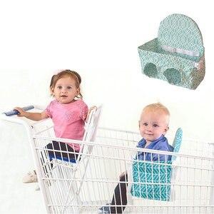 Image 3 - Детская корзина для покупок, гамак, портативная тележка с нажимом, сиденье для супермаркета, корзина для покупок, детское безопасное сиденье