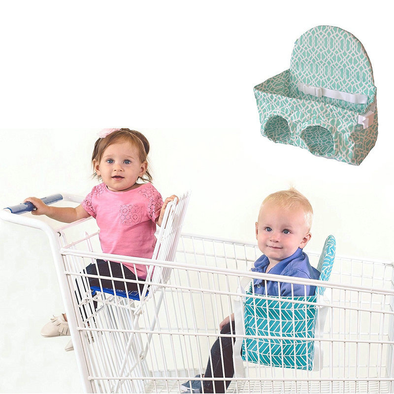Image 3 - Baby shopping cart hammock portable push pull cart seat  supermarket shopping cart baby safety seatStrollers Accessories   -