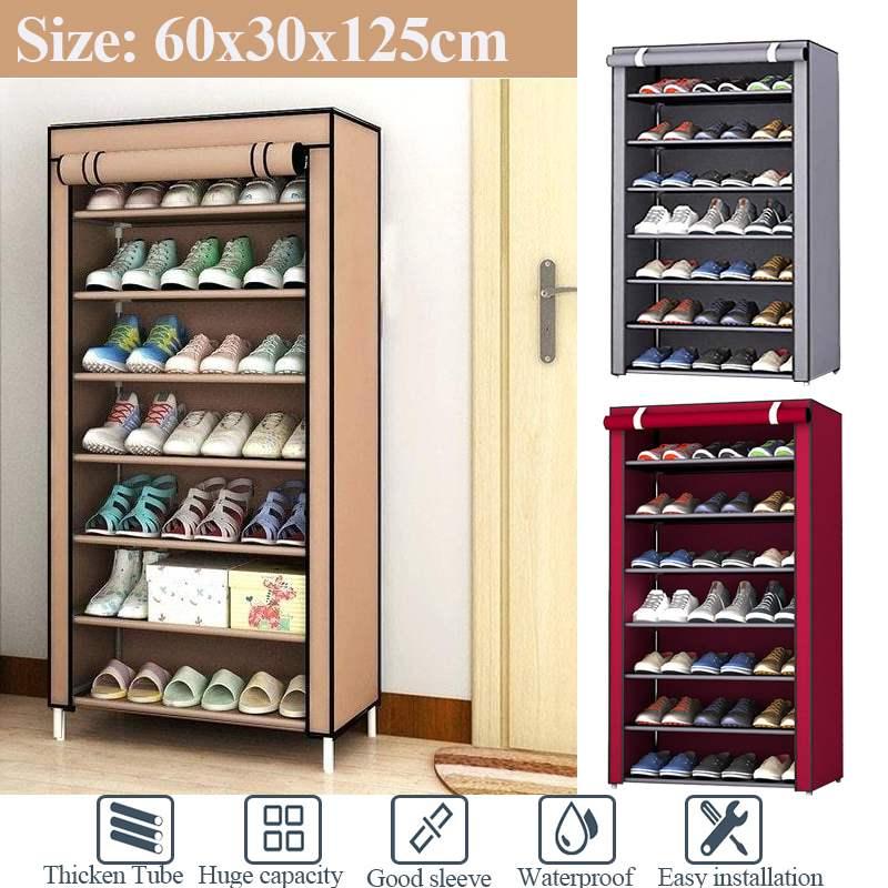 Dustproof Non-woven Cloth Fabric Assembly Shoe Storage Combination Shoe Cabinet Organizer Rack Shoe Shelf 8 Layer Shoe Rack
