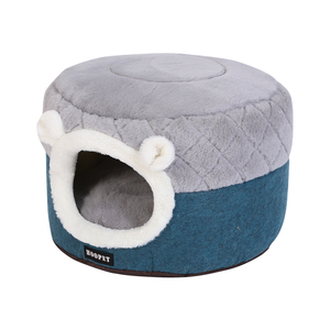 Image 3 - HOOPET Cat Bed House Soft Plush Kennel Puppy Cushion Small Dogs Cats Nest Winter Warm Sleeping Pet Dog Bed Pet Mat Supplies