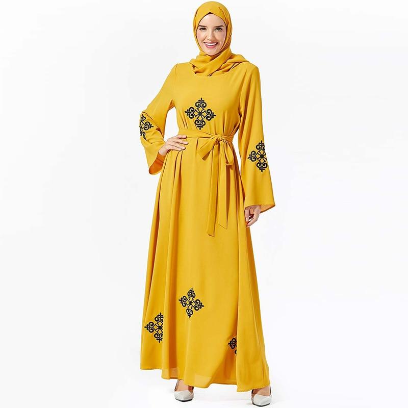Kaftan Abaya Dubai Long Muslim Hijab Dress Jilbab Abayas For Women Caftan Elbise Turkish Dresses Islamic Clothing Robe Islam