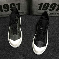 2019 Fashion Design Male Retro Sneakers Lace up Flats shoes Hip hop black gray Men Casual Shoes High Top Canvas Shoes ghn8