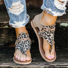 2020 damskie sandały wzór w cętki letnie buty damskie plus Size nowe modne płaskie buty damskie sandały letnie buty sandały tanie tanio E CN Konopi Podstawowe Mieszkanie z Płótno Pokryte Mieszkanie (≤1cm) Na co dzień Pasuje prawda na wymiar weź swój normalny rozmiar