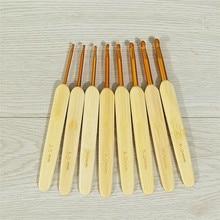 Bamboo-Handle Needle-Craft Crochet-Hooks Knitting-Needles-2.5mm-6mm Ultra-Smooth 8pcs/Set