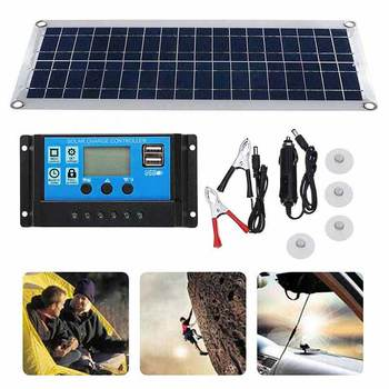50W 12V dual USB flexible solar charging board Protection Board charger Time switch