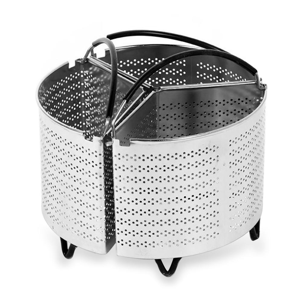 3 Pcs/Set Steamer Stainless Steel Basket For 6 Qt Pressure Cooker Compatible With Pressure Cooker Accessories Strainer Insert