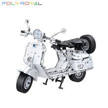 Polyroyal строительные блоки technic скутер мотоцикл 550 шт