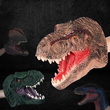 Dinosaurio simulación de mano de PVC muñeca marioneta inteligente papel juguete modelo de dinosaurio figura de juguete para el regalo de los niños
