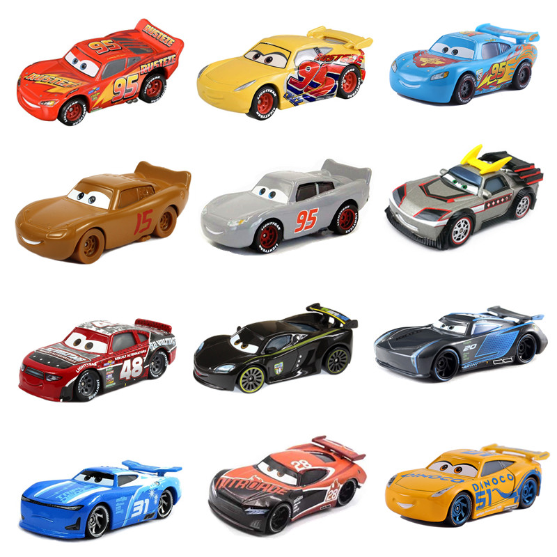Disney Pixar 2 3 Toy Car McQueen Car Disney The Car 1:55 Cast Metal Alloy Toy Car Model Children's Birthday Christmas Gift