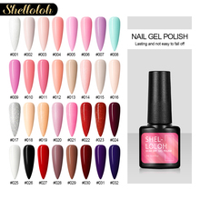 Shelloloh 7ML Glitter UV Nail Gel Polish Pure Nail Color Semi Permanent Soak off UV LED Gel For Nail Art Decorations Tool недорого