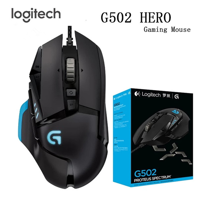 Logitech Original Mouse G502/G102 Programmable High Performance Gaming Mouse Engine with 16,000 DPI Programmable   Tunable for M