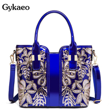 Gykaeo European and American Style Fashion Patent Leather Fl