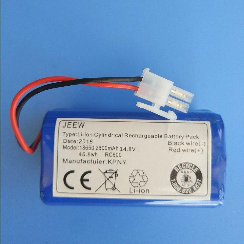 Batería de 14,8 V para Chuwi ILIFE V7 V7s A6 V7s pro Robot aspirador litio 18650 reemplazo acumulador recargable 2800mAh