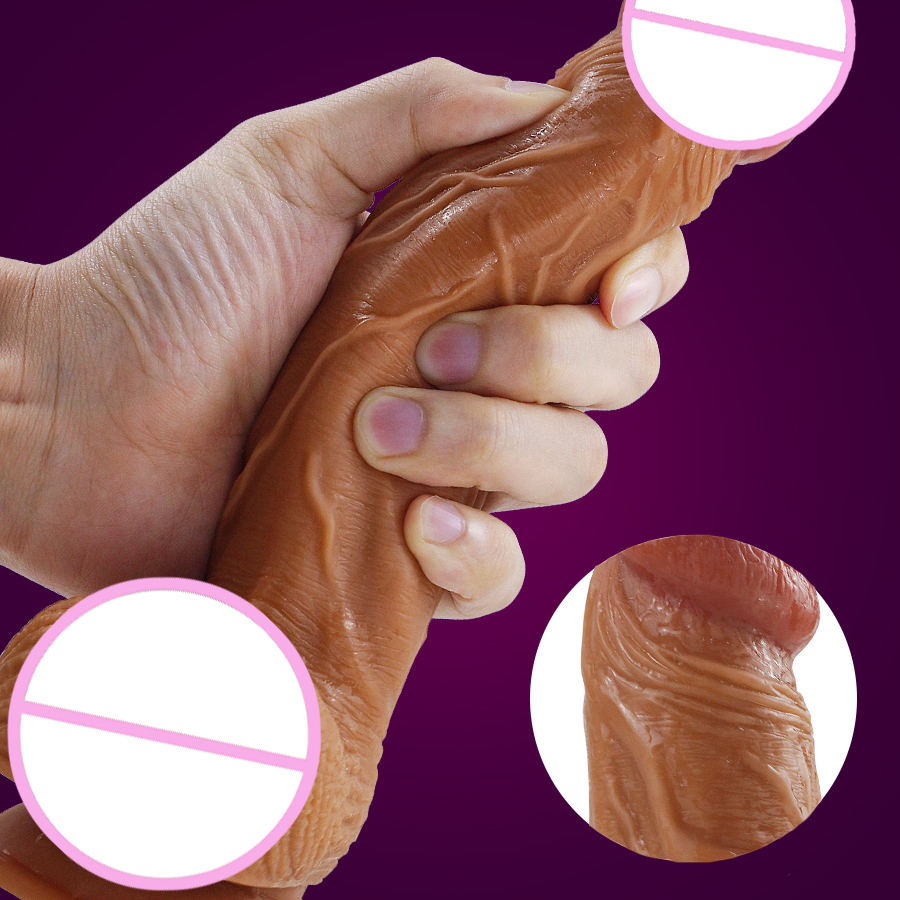 Realistic Huge Dildo With Suction Cup For Women Masturbator Strapon Skin Feeling Penis Adult Sex Toys For Women Lesbian Sex Toys