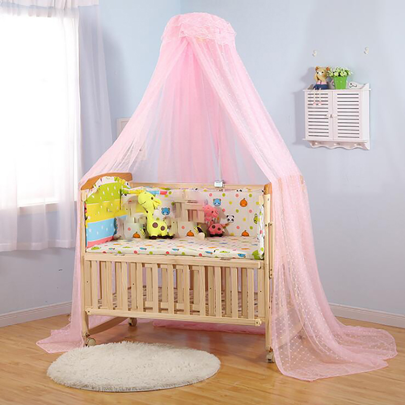 Baby Mosquito Nets Summer Mesh Dome Bedroom Curtain Nets Newborn Infants Portable Lace Canopy Kids Bedding Crib Netting