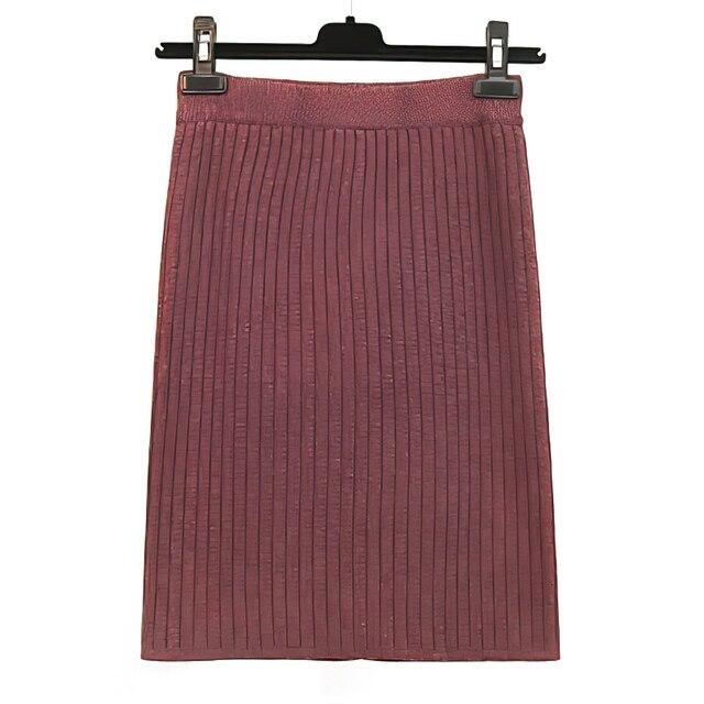 RICORIT Elastic Band Skirt Women Winter Knitted Skirt Female Straight Ribbed 50-70cm Mid-length Skirts 10 Multiple Color 3